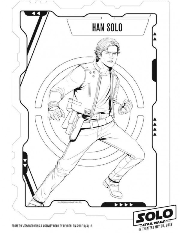 Star Wars Hans Solo Free Printable Activity Sheets
