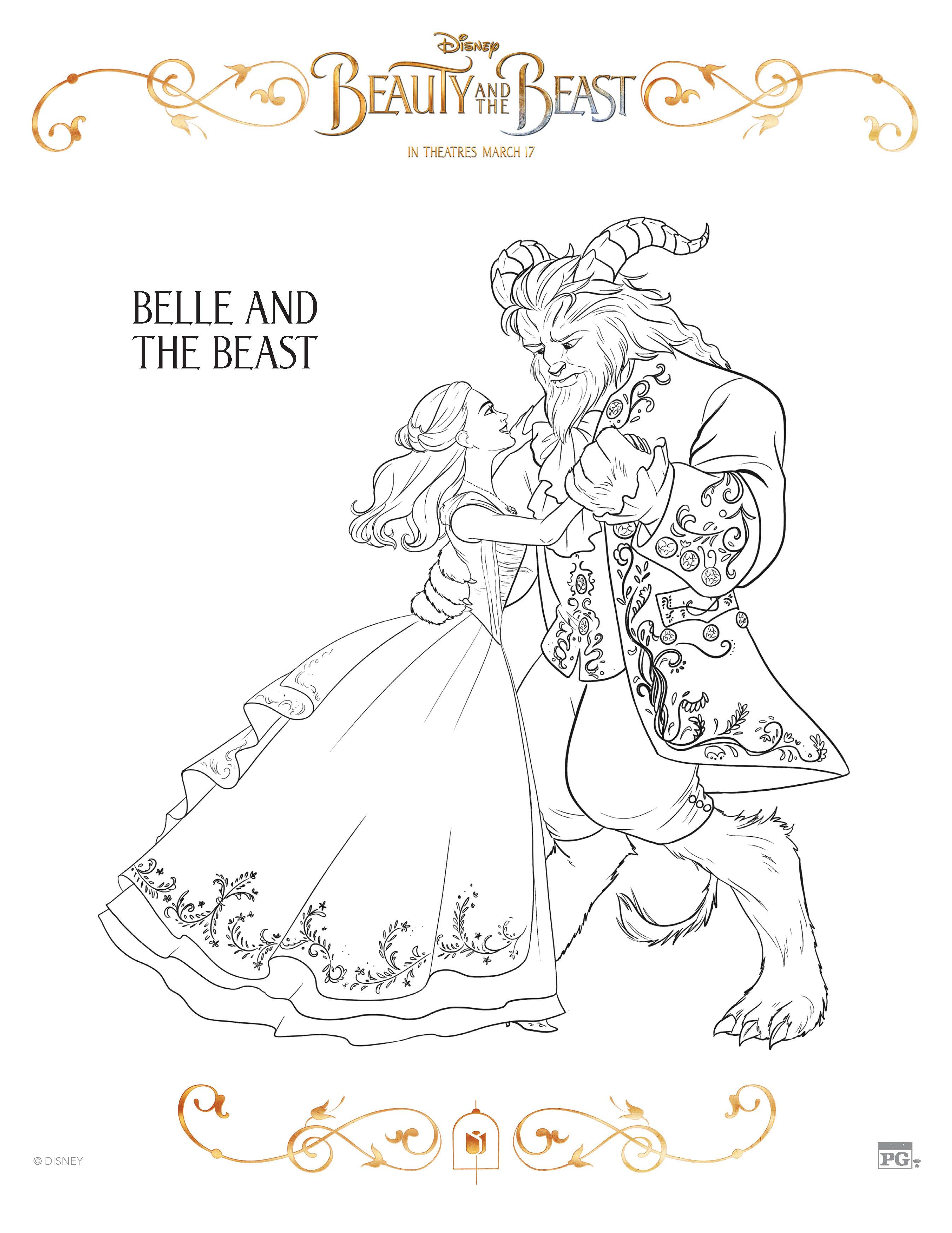 image relating to Beauty and the Beast Printable Coloring Pages identified as 10 Attractiveness and the Beast Totally free Printable Coloring Web pages