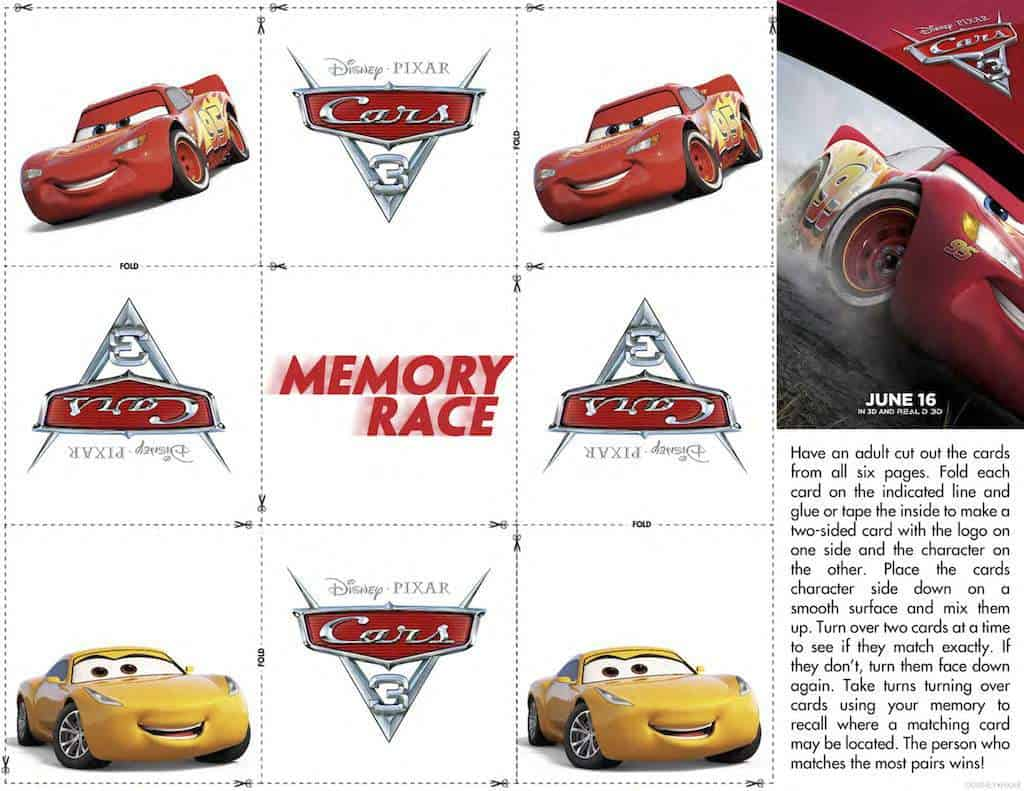 photograph regarding Free Printable Cars titled Disney Vehicles Cost-free Printable Match Sheets