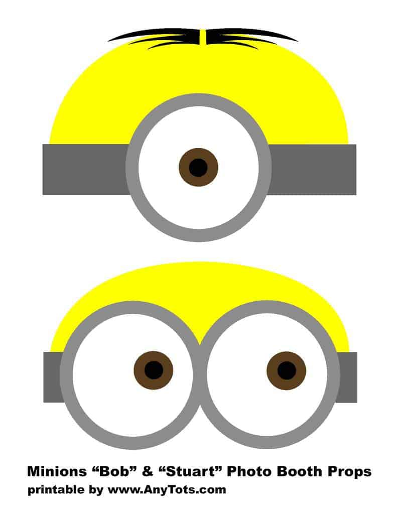picture relating to Minion Logo Printable called Minions Free of charge Printable Image Booth Props