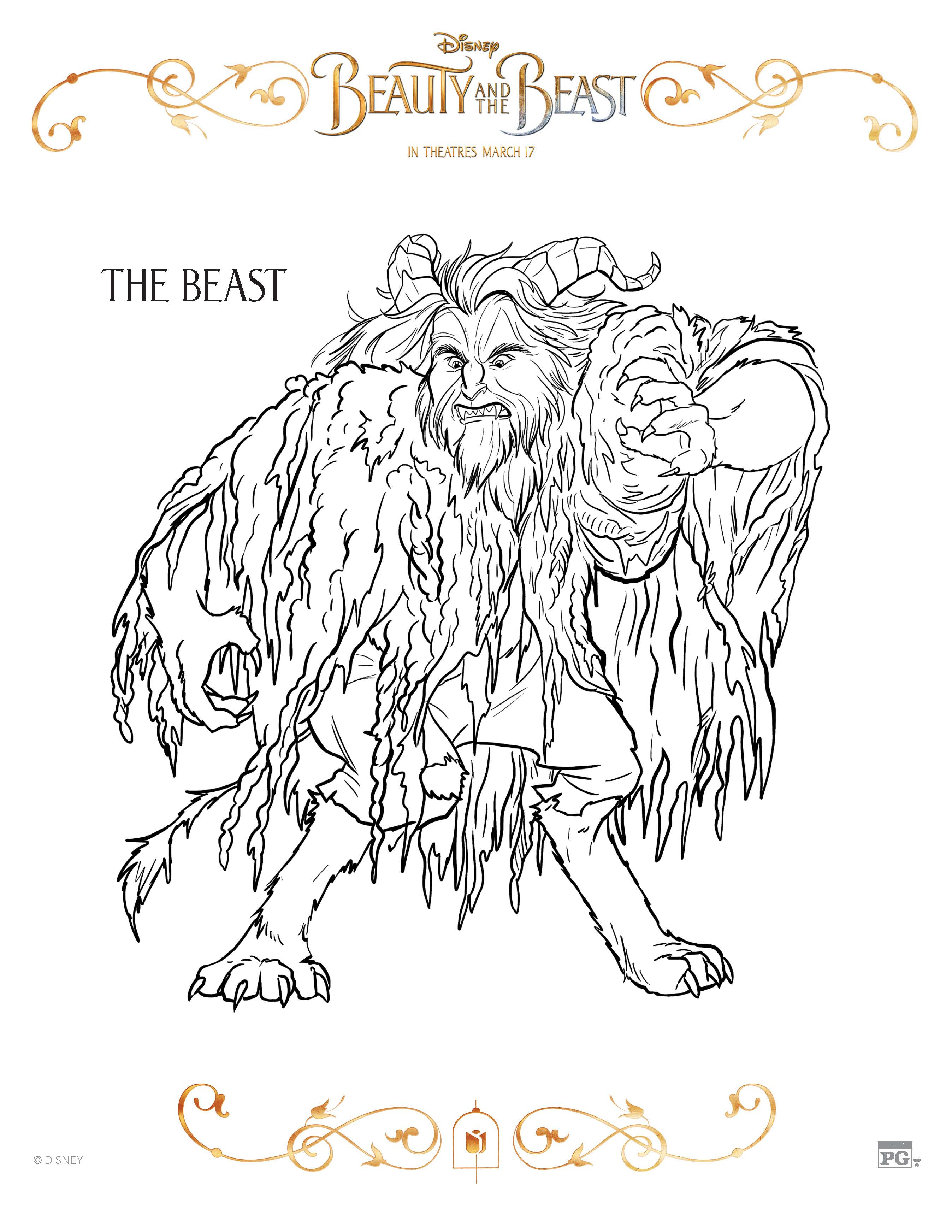 photograph regarding Beauty and the Beast Printable Coloring Pages named 10 Elegance and the Beast Free of charge Printable Coloring Web pages