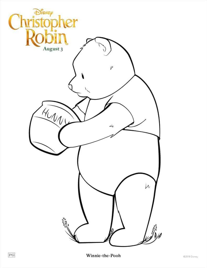 14 Christopher Robin Free Printable Coloring Pages & Activity Sheets