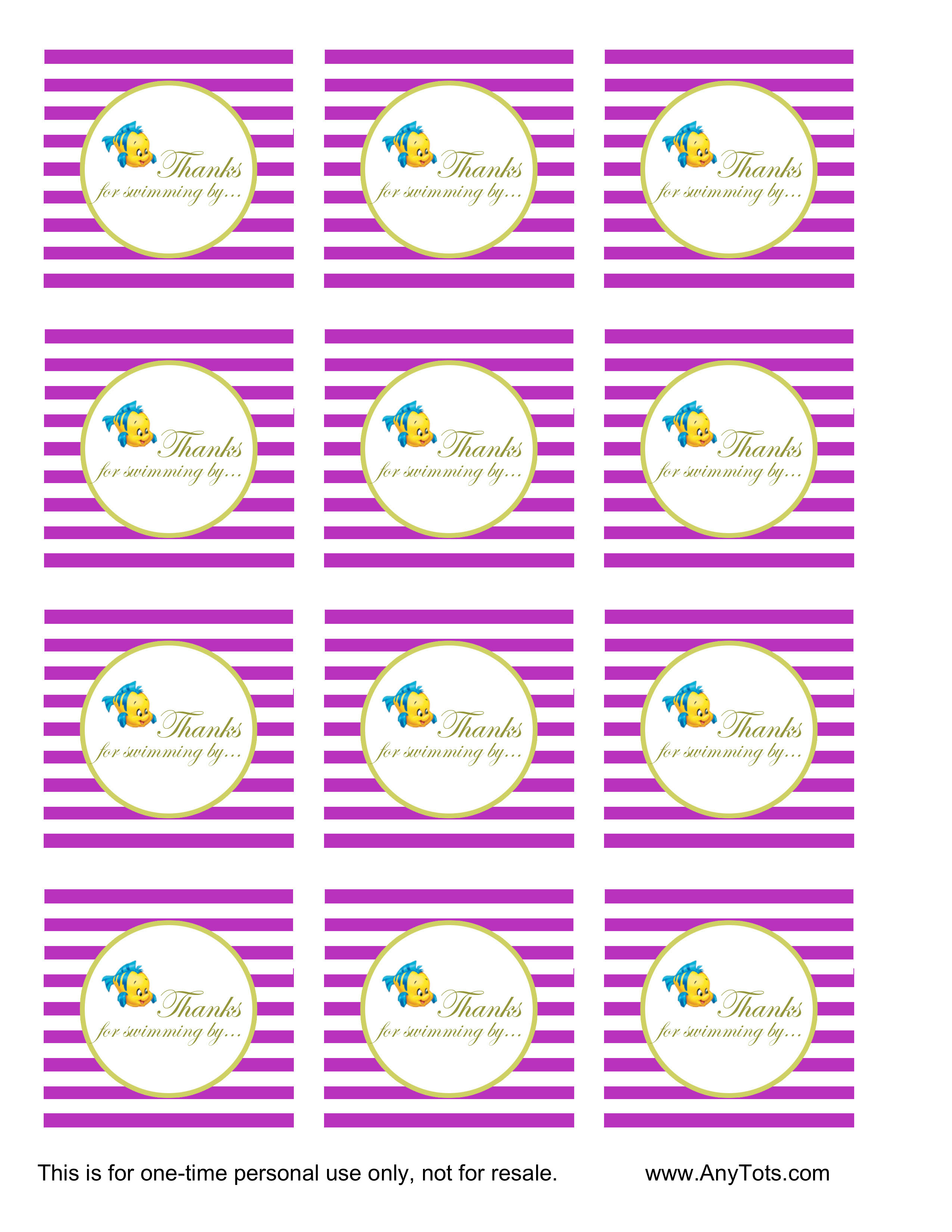 graphic about Free Printable Favor Tags referred to as 2 Mermaid No cost Printable Celebration Want Tags