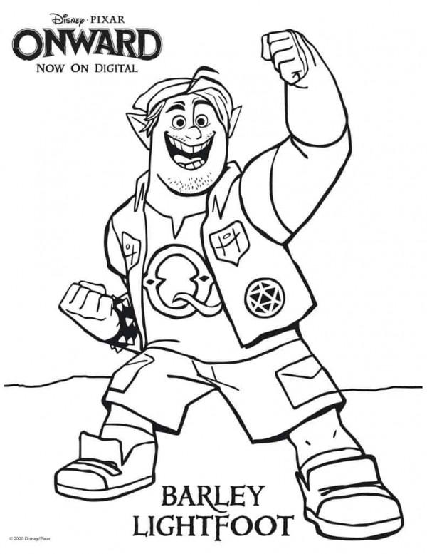 Disney Onward Coloring Pages