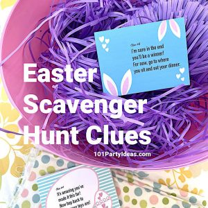 Easter Scavenger Hunt Clues | 12 Printable Clue Cards